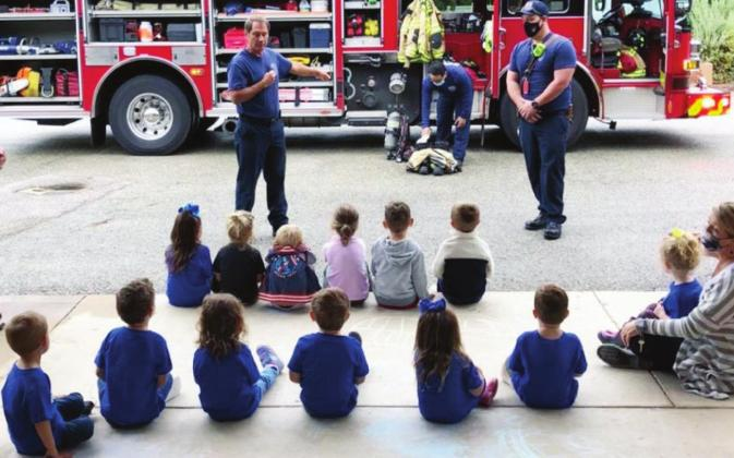 Alt Text for ImMarble Falls Fire Rescue recently hosted a tour for youngsters who attend St. Peter's Lutheran School.