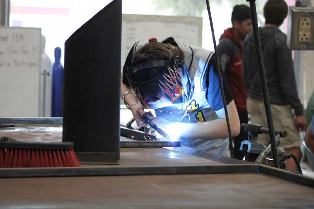 File photo/A Marble Falls ISD program that will see one-one-one instruction as classrooms re-open in the fall includes the Career and Technical Education's welding program.