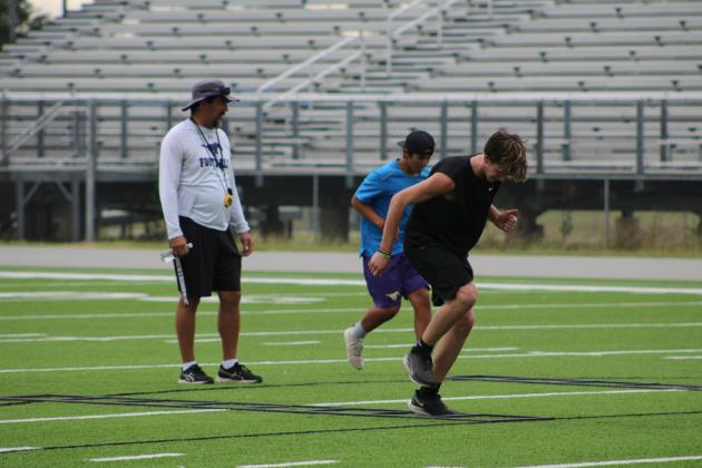Marble Falls ISD officials opted to cancel voluntary summer athletics training program (pictured here in June) due to two staff members and a student testing positive for COVID-19. File photo