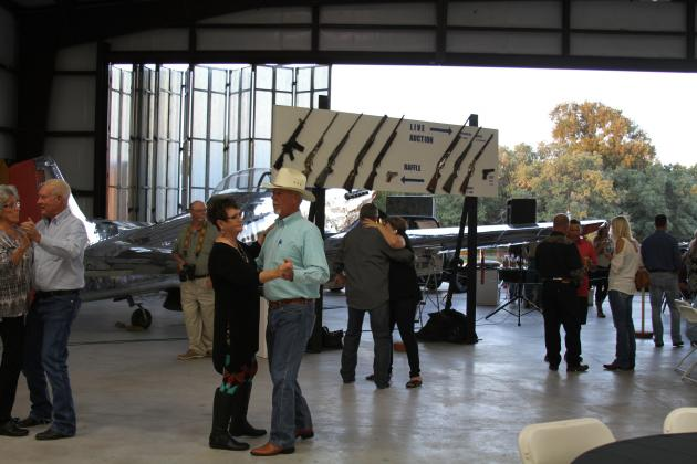 In year's past, the event was held in a private hanger (pictured here) in Burnet. This year, the seventh annual Rifles Racks & Deer Tracks (RR&DT) will be held at 6 p.m. Saturday, Oct. 24, as an open-air event under a big tent at Haley Nelson Park. File photo