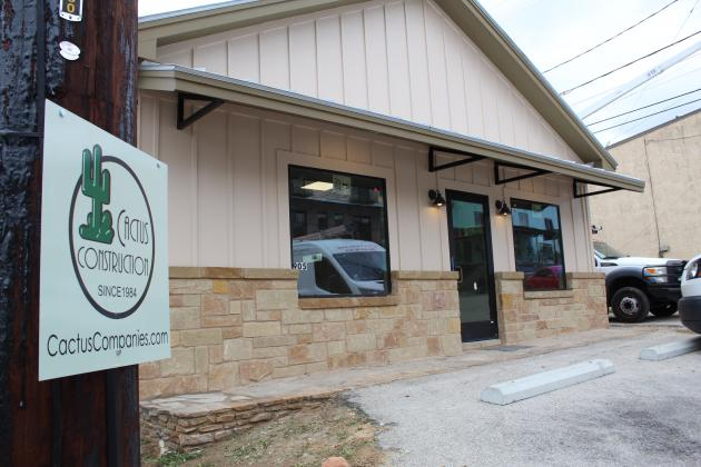 The newspaper office relocates to 905 Third St. in Marble Falls. Cactus Construction Co. has lent their development expertise again and contracted for the renovations and expansion of the downtown building for the office. Photos by Connie Swinney/The Highlander