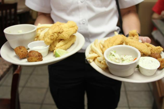 For $10 per adult and $5 per child younger than 5, there will be Texas farm-raised fried catfish, cole slaw, fries and hush puppies available to enjoy for dine in or carry out. File photo
