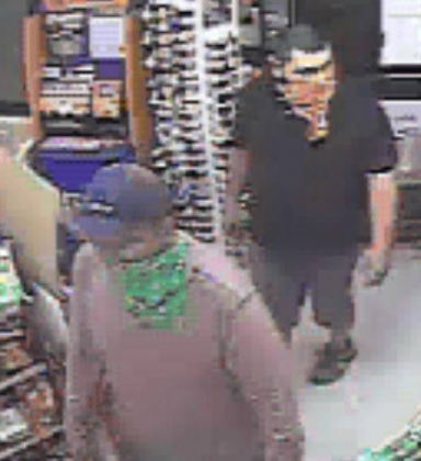 Two men – one wielding a knife – allegedly robbed the Exxon Kwik Chek on RR 1431 in the early morning hours of Oct. 18 in Marble Falls. Police are looking for tips to find the suspects. Call 830-693-3611 to offer information. Contributed