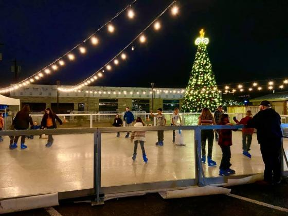 The ice skating venue, which was held downtown last year, will now be moved to Lakeside Park. Contributed