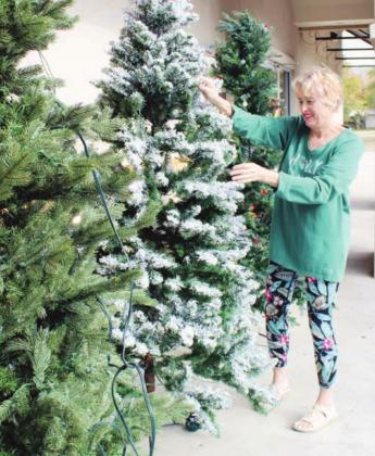 Reed has been the more than 20 years for the traditional Christmas decor, gifts and other shopping specials featured during the holiday season at the Marble Falls Library Thrift Store, 300 Avenue J.