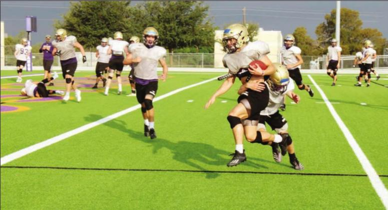The Mustangs football team has worked more play reps into their practices this season than last year. The team played their first scrimmage of 2020 on Thursday night. Full coverage of the game will be in the Sept. 22 issue of The Highlander. Nathan Hendrix/The Highlander