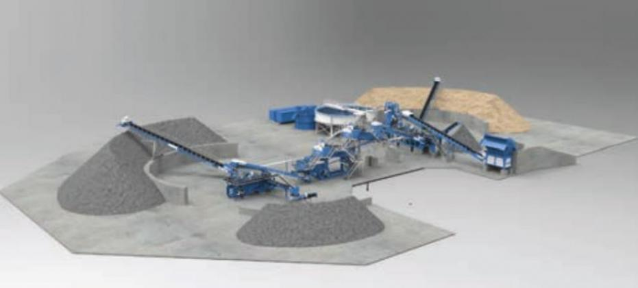 Engineers for Collier Materials offered a rendering of what the proposed Kingsland sand plant would look like, adjacent Comanche Rancheria. Rendering