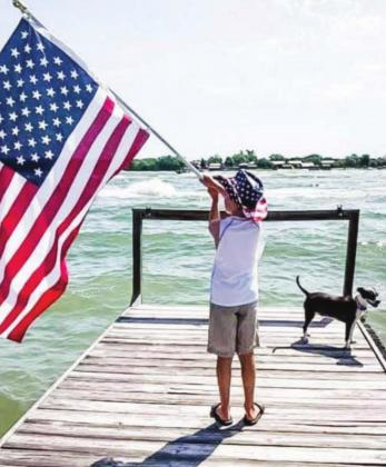 Attendees from nine-years-old to 90 showed support for the country and President Donald J. Trump on Sunday, July 5, as hundreds of boats and personal watercraft descended on Lake LBJ. Contributed