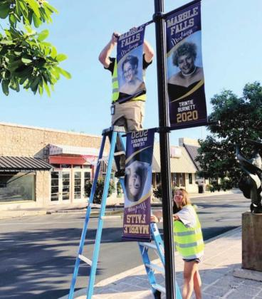 As City of Marble Falls crews put up a round of senior banners in downtown Marble Falls, the Texas Education Agency releases what the upcoming school year students can expect when schools are re-opened.  Contributed